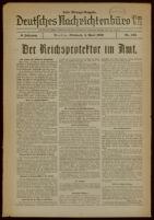 Deutsches Nachrichtenbüro. 6 Jahrg., Nr. 525, 1939 April 5, Erste Mittags-Ausgabe