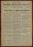 Deutsches Nachrichtenbüro. 6 Jahrg., Nr. 1258, 1939 September 4, Zweite Morgen-Ausgabe