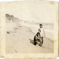 Great grandfather and great grandmother Lucy at the beach