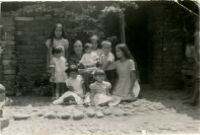 Me, my siblings and cousins at my grandmother's house
