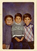 Family portrait of the Vargas boys