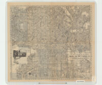 The Latest City Map of Los Angeles Compliments of Bekins Van and Storage Co.