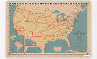 Domestic Air Mail Service in the United States