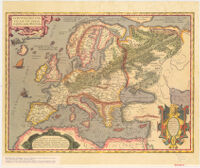 Historical Map of Europe. From the Theatrum Orbis Terrarum by Abraham Ortelius