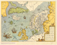 Map of Northern Europe and the Arctic Sea. From the Theatrum Orbis Terrarum by Abraham Ortelius.