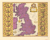 Britian as it was Devided in the tyme of Enghfhe: Saxons eipecially during their Heptarchy