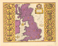 Britain as it was devided in the tyme of the Enghfhe: Saxons eipecially during their Heptarchy