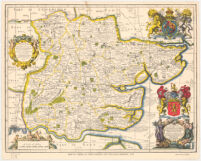 Map of Essex, by John Ogilby and William Morgan, 1678