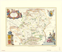 Blaeu map of Hertfordshire, Hertfordia
