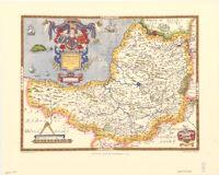 Saxton's map of Somerset, 1575