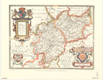 Saxton's map of Warwickshire and Leicestershire, 1576