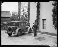 Scottish Rite Cathedral parking lot where Dr. Leonard Siever was murdered, Pasadena, 1933