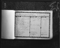 Guest book of Dr. Leonard Siever, 1933