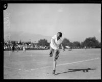 Alda Silva, holder of the woman's world record for the javelin throw, 1927