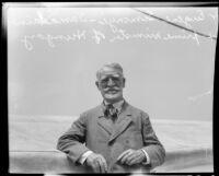 Dr. Eugene Simonyi-Semadam, ex-Prime Minister of Hungary, 1930