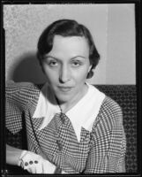 Actress Berta Singerman, 1934