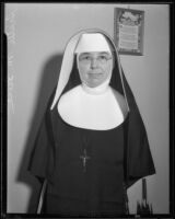 Sister M. Irene, Superior, Queen of Angels Hospital, Los Angeles, 1933