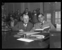 Albert Sittel, U.S. Marshal, starts his third term in office, 1930