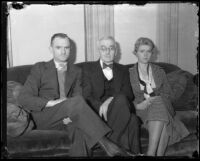 Family of kidnapping victim Mary B. Skeele, Los Angeles, 1933