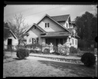 Exterior of the bungalow house where kidnapping victim Mary Skeele was held, Pasadena, 1933