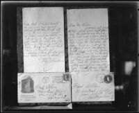 Letter from murder victim Fay Sudow to Fred Allen (Alfred W. Allen), 1920
