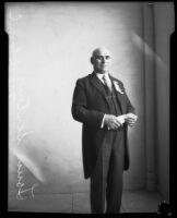 Louis Sentous, French Consul, Los Angeles, circa 1920-1927