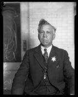 Deputy Sheriff Joseph S. Sepulveda, circa 1920-1933