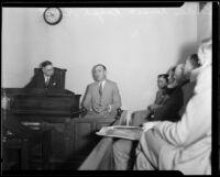 Coroner Frank Nance, Fire Chief Ralph Scott, and jury, 1929