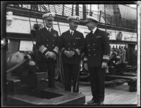 United States Navy officers on ship deck, [1934?]