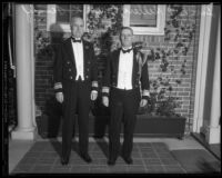 United States Navy officers in dress uniforms, [1934?]