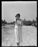 Marian Semmelmeyer with pistol, 1933