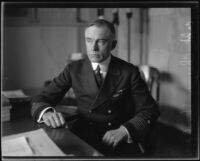 Captain Chauncey Shackford at desk, 1921