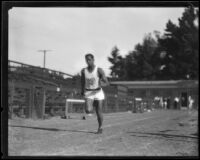Ed Shaw running track for U.S.C., Los Angeles, 1923