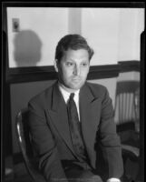 Sportswriter Norman Sper, 1932