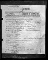 Photograph of Affidavit of Registration, John D. Shaw, father of Los Angeles mayoral candidate Frank Shaw, 1932