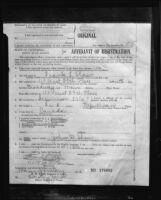 Photograph of Affidavit of Registration, Frank L. Shaw, Los Angeles mayoral candidate, 1932