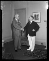 Los Angeles Mayor Frank Shaw and California Governor James Rolph, 1933-1934