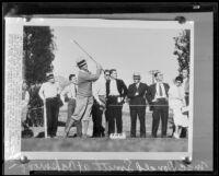 Macdonald Smith golfing, Glendale, 1935