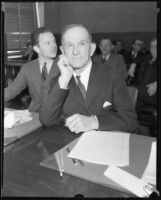Daniel R. Snyder, murder suspect, in court, [Los Angeles?], 1934