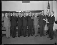 Judges W. Cloyd Snyder, Frank M. Smith, Victor R. McLucas, John W. Shenk, John F. Tyler, Nathaniel P. Conrey, and Charles R. Barnard, 1932