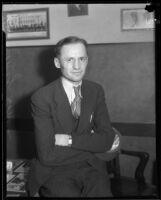 Labor organizer Steve Somers, 1934