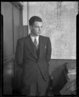 Cleared murder suspect Donald P. Soules, 1933