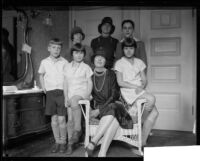 Eileen Adams Sousa, wife of John Philip Sousa, Jr., and children, Los Angeles, 1928