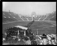 University of Southern California graduation, Los Angeles Memorial Coliseum, Los Angeles, 1931