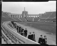 University of Southern California graduation, Los Angeles Memorial Coliseum, Los Angeles, 1932