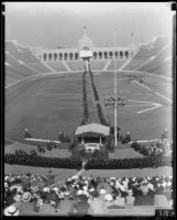University of Southern California graduation, Los Angeles Memorial Coliseum, Los Angeles, 1934