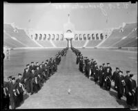 University of Southern California graduation, Los Angeles Memorial Coliseum, Los Angeles, 1935