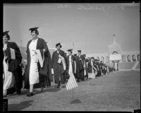 University of Southern California graduation, Los Angeles Memorial Coliseum, Los Angeles, 1935