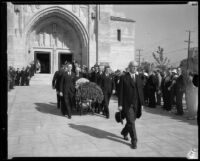 Funeral of Moses H. Sherman, Los Angeles, 1932