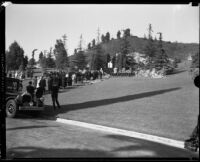 Funeral of Moses H. Sherman, Forest Lawn Cemetery, Glendale, 1932